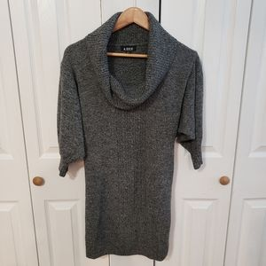 A. Byer Cowl Neck Charcoal sweater dress